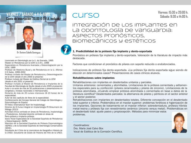 Curso Intensivo (10 horas) en el Colegio Odontólogos de Madrid