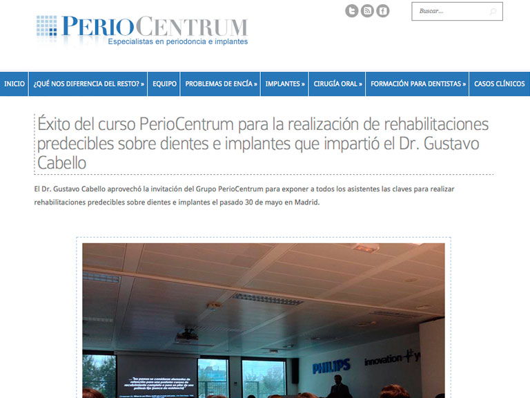 Curso PERIOCENTRUM (Madrid)